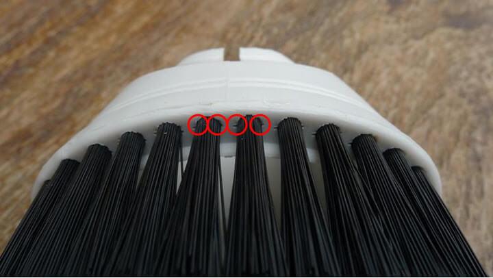 扁線植毛毛刷縫隙