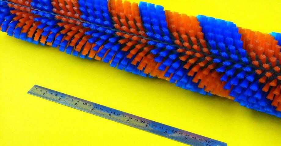 雙色螺旋毛刷輪-工業用刷