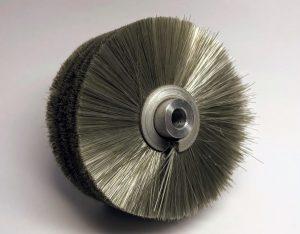 static-dissipative rotary brush